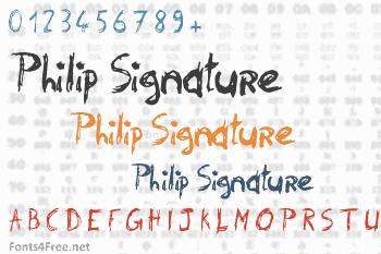 Philip Signature Font