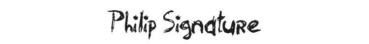 Philip Signature Font Preview