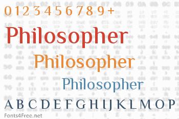 Philosopher Font
