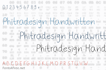 Phitradesign Handwritten Font