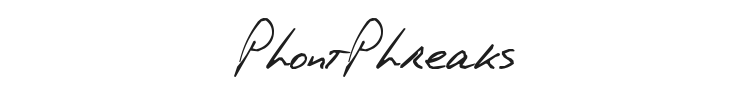 PhontPhreaks Handwriting Font Preview