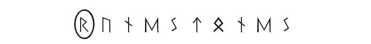 Pi Rho Runestones Font Preview