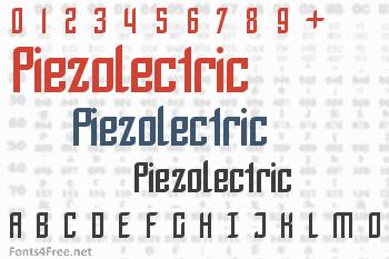 Piezolectric Font