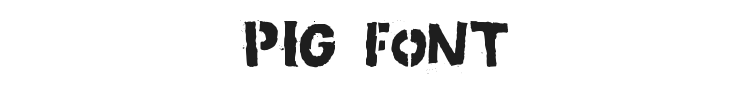 Pig Font Preview