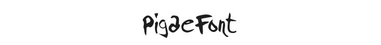 Pigae Font Preview