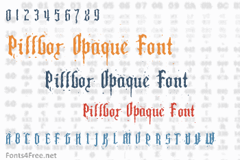 Pillbox Opaque Font