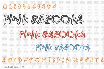 Pink Bazooka Font