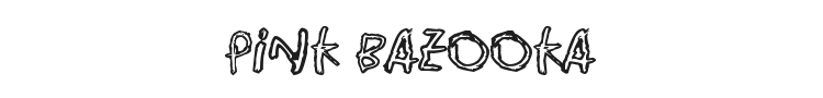 Pink Bazooka Font Preview