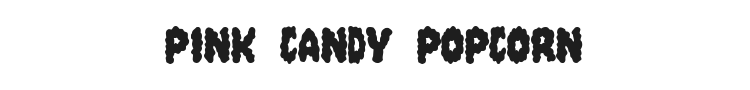 Pink Candy Popcorn Font Preview