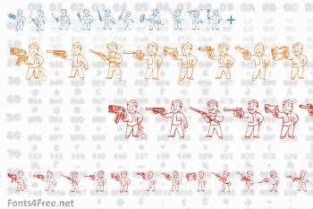Pip Boy Weapons Dingbats Font