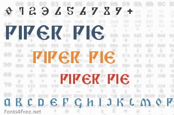 Piper Pie Font