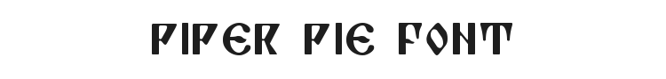 Piper Pie Font Preview
