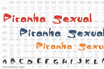 Piranha Sexual Font