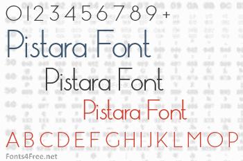 Pistara Font
