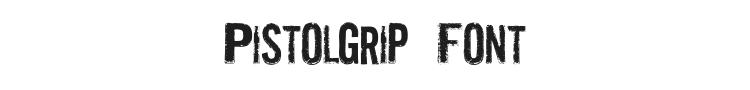 Pistolgrip Font Preview