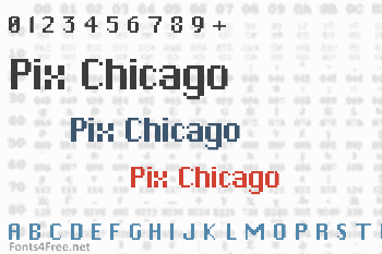 Pix Chicago Font