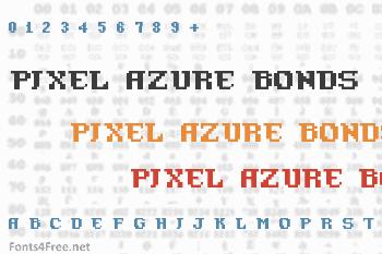 Pixel Azure Bonds Font
