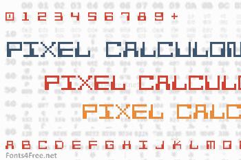 Pixel Calculon Font