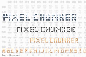 Pixel Chunker Font