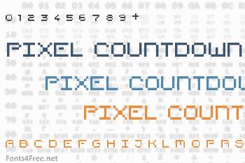 Pixel Countdown Font