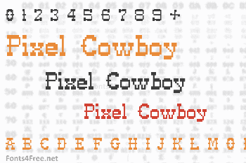 Pixel Cowboy Font