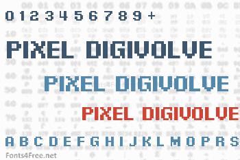 Pixel Digivolve Font