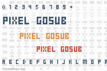 Pixel Gosub Font