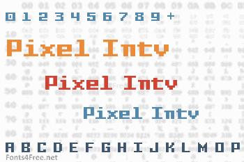 Pixel Intv Font