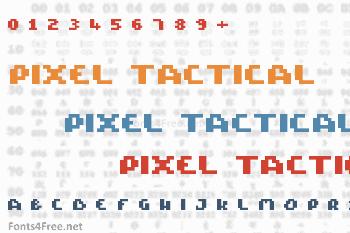 Pixel Tactical Font