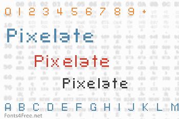 Pixelate Font