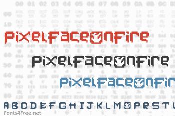 PixelFaceOnFire Font
