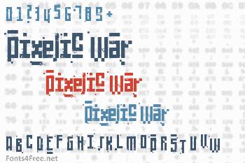 Pixelic War Font