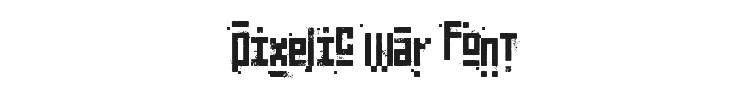 Pixelic War Font Preview