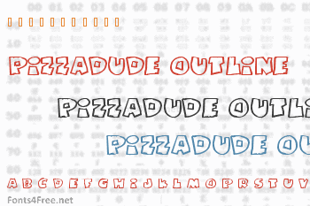 Pizzadude Fat Outline Font