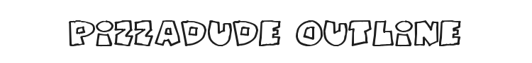 Pizzadude Fat Outline Font Preview