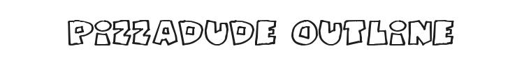 Pizzadude Fat Outline Font Preview