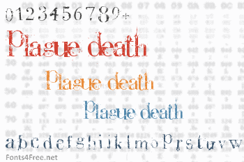 Plague Death Font