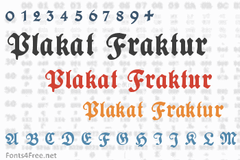 Plakat Fraktur Font