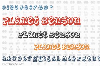 Planet Benson Font