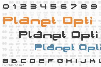 Planet Opti Font