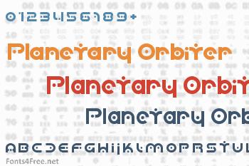 Planetary Orbiter Font