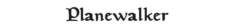 Planewalker Font Preview
