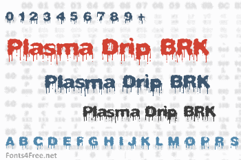 Plasma Drip BRK Font