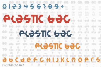 Plastic Bag Font