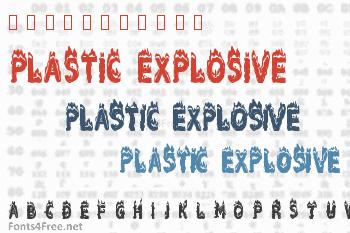 Plastic Explosive Font