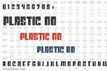 Plastic No Font