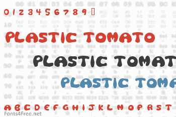 Plastic Tomato Font