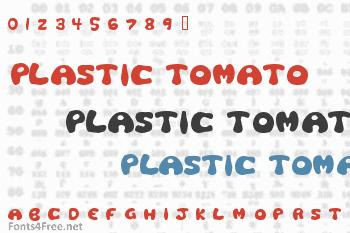 Plastic Tomato Font