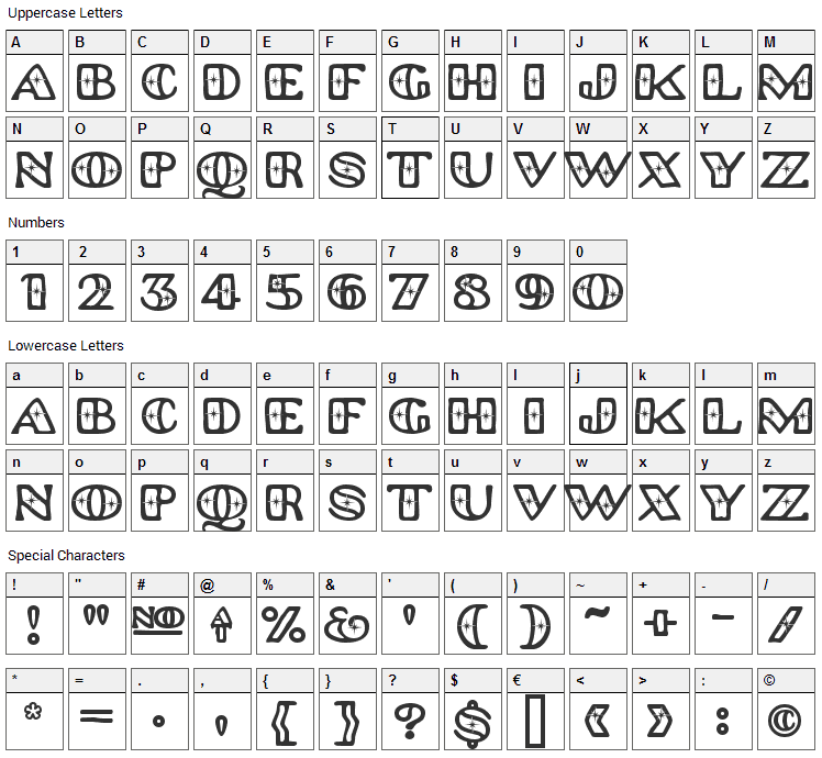 Platinum Hub Caps Polished Font Character Map