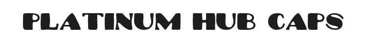 Platinum Hub Caps Font